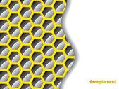 Black and yellow hexagon background — Stock Vector
