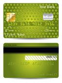 Gröna texturerat kreditkort — Stockvektor