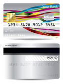 Ribbon design on credit card — Stock Vector