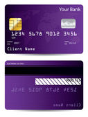 Purple world credit card — Stock Vector