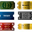 Various tickets - Imagen vectorial