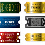 Various tickets — Stock Vector