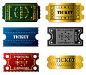 Various tickets — Stock Vector
