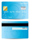 Cool blue credit card design — Stock Vector