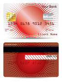 Red halftone credit card design — Stock Vector