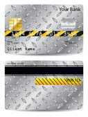 Metallic credit card — Stock Vector