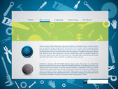 Tool design website template — Stock Vector