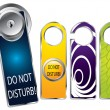 Stock Vector: Don't disturb labels