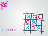 Tic tac toe background — Stock Vector
