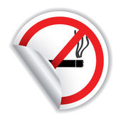 Don't smoke sticker — Stock Vector