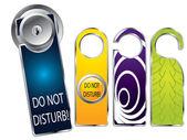 Don't disturb labels — Stock Vector