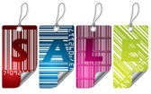Cool barcode label design set — Stock Vector