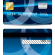 Abstract blue credit card — Stock Vector