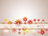 Blomma bakgrund — Stockvektor