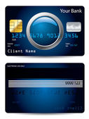 Cool credit card with button — Stock Vector