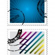 Postage stamp set — Stock Vector