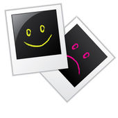 Photo frames with smileys — Stock Vector