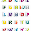 Colored 3d alphabet - Stock Vector
