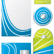 Company business set with white lines — Stock Vector #3382323