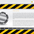 Hazardous website template — Stock Vector