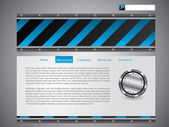 Blue striped website template — Stock Vector