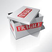 Fragile box — Stock Vector