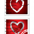 Heart stamps — Stock Vector