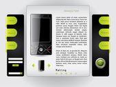 Buy a phone web template — Stock Vector
