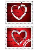 Heart stamps — Stock Vector