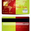 Stock Vector: Bicolor background credit card