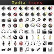 Media icons — Stock Vector #3480055