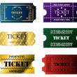 Various ticket set — Stockvectorbeeld