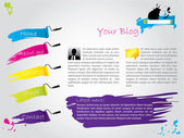 Painted website — Stock Vector