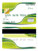 Abstract green design credit card — Stock Vector