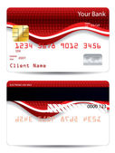 Abstract red design credit card — Stock Vector