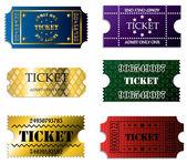 Çeşitli bilet ayarla — Stok Vektör