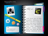 Веб-дневник как шаблон — Cтоковый вектор
