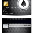 Spade credit card design - Stock Vector