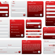 Red and silver web forms — Stok Vektör