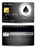 Spade credit card design — Stock Vector
