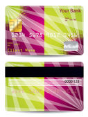 Credit card with abstract design — Stock Vector