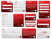 Red and silver web forms — Vettoriale Stock