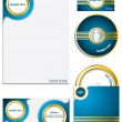 Cool company business set — Stock Vector