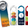 Stock Vector: Do not disturb labels