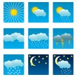 Stock Vector: Weather icons and illustrations
