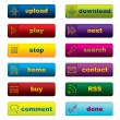 Web buttons with leds - Stock Vector