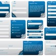 Royalty-Free Stock Imagem Vetorial: Folded web form design