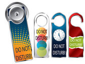 Do not disturb labels — Stock Vector