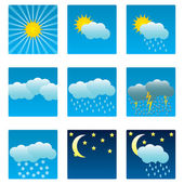Weather icons and illustrations — Stock Vector
