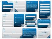 折られた web フォーム デザイン — ストックベクタ